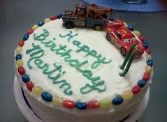 Cars Cake by Brenda L. www.birthdaycakes4free.com