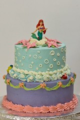 Little Mermaid Cake by Rachel N, Milwaukee, WI, www.birthdaycakes4free
