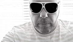 Over Exposed self portrait. (CWhatPhotos) Tags: pictures portrait sun white black me look self that photography eos glasses foto with post image artistic pics grain over picture pic images shades have photographs photograph fotos 7d processing grainy dslr process which exposed contain cwhatphotos
