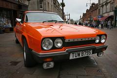 Reliant Scimitar GTE (<p&p>photo) Tags: uk orange classic car june scotland classiccar hamilton 1977 sportscar 2012 scimitar reliant lanarkshire gte reliantscimitar classiccarshow southlanarkshire quarrystreet reliantscimitargte june2012 tuw879s