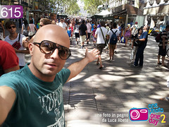 Foto in Pegno n° 615 (Luca Abete ONEphotoONEday) Tags: street summer 6 selfportrait sunglasses photo foto estate agosto barcellona spagna 2012 autoscatto rambla 615 onephotooneday lucaabete