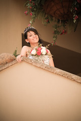 Quinceanera session-27 (Karina Franco Wedding Photography) Tags: birthday pink roof girl sunglasses lady youth ramp chica dress balcony young 15 teen hispanic latina diva quinceanera