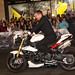 Jeremy Renner arrives by motorbike at the Sydney
