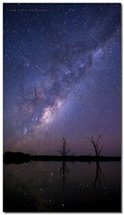 Reflections of Time (Simon Diete) Tags: longexposure trees reflection night landscape nikon australia queensland meteor shootingstars inglewood milkyway d700