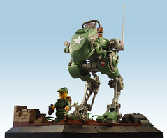R-6 Froghopper (JonHall18) Tags: army lego military walker ww2 mech moc dieselpunk