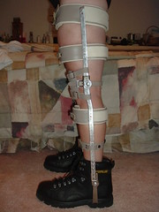 Boots and Braces Side View (KAFOmaker) Tags: sexy leather metal fetish high shoes highheels braces boots sandals bondage heels cuff buckle brace sandal cuffs buckles restraints bracing restraint orthopedics kafo orthopedic cuffed braced buckled orthotics orthotic bootsandbraces