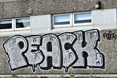 Peack (8333696) Tags: park street urban streetart art car wall tin graffiti scotland mural paint artist centre scottish can spray health aberdeen talent spraypaint graff aerosol deen denburn peack