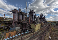 Three's A Crowd (billmclaugh) Tags: mill abandoned industry photoshop canon rust iron industrial steel urbanexploration furnace hdr highdynamicrange blaster ue molten lightroom urbex 1635mm photomatix viveza promotecontrol 5dmiii