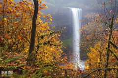 The Golden Curtain (Ian Sane) Tags: park autumn mist fall nature water colors leaves fog oregon silver landscape ian photography golden state south curtain images canyon falls wilderness sane the sublimity