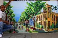 (naiveartist) Tags: street streets art painting israel artist tel aviv exhibition buy rafael burst naive raphael trade  purchase israeli  rafi rifi                                     tztziir