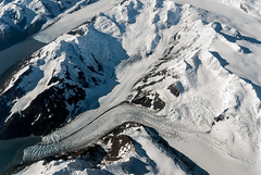 Somewhere over the Chugach Mountains (ldrose) Tags: vacation snow ice alaska airplane photo aerial glacier anchorage intheair 2012 windowseat tidewater chugachmoutains