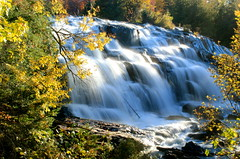 Rushing Waters at Bond Falls (Cole Chase Photography) Tags: autumn fall canon waterfall upperpeninsula northwoods t3i uppermichigan bondfalls paulding ontonagonriver pauldingmichigan
