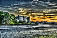Carew Castle Sunset 4 (Steve Purnell Photography) Tags: sunset building tower castle heritage history monument water stone wall wales architecture river landscape pembroke ancient ruins heraldry unitedkingdom fort military masonry ruin scenic landmarks landmark tourist medieval historic norman knights monuments moat fortress pembrokeshire middleages defense tidal defence turrets battlement carewcastle carew millpond welshcastles architectureandbuildings theramparts carewcastlepembrokeshire