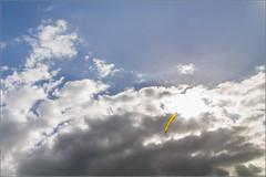 Flight of the Balloon (mikeyp2000) Tags: blue sky cloud sun clouds skies balloon eyecatcher dpc