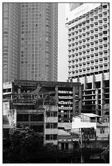 Bangkok houses (thezoat) Tags: blackandwhite abstract monochrome skyscraper thailand bangkok contrasts