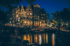(angheloflores) Tags: houses urban colors amsterdam night lights canal cityscape explore brouwersgracht netherlans