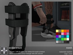 [ht+] ankle brace (Corvus Szpiegel) Tags: original broken sports foot this jump mesh leg tendon medical tennis hate torn ht ankle medic brace joint fit splint genre sprain protect ligament orthesis