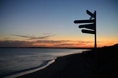 Sundown (PhotosbyDi) Tags: ocean sunset silhouette seaside signpost queenscliff nikond600 nikonf282470mmlens