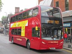 NXWM 4855 BX61LML The Lower Parade, Birmingham on 907 (1) (1280x960) (dearingbuspix) Tags: nationalexpress travelwestmidlands 4855 nationalexpresswestmidlands nxwm bx61lml