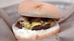 Cheeseburger. (dccradio) Tags: food cheese dinner lunch nc ketchup burger fastfood northcarolina eat cheeseburger hamburger meal slaw catsup roll supper andys coleslaw lumberton americancheese highway55 grilledonions robesoncounty
