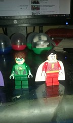 custom sdcc green lantern and sdcc shazam captain marvel (teamfourstud) Tags: green robin night comics dc power lego flash wing superman armor captain joker decal lantern cyborg custom marvel lex decals exclusive shazam nightwing luthor bizzaro