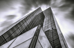 elements' meeting point - EXPLORED May 15, 2016 (rayordanov) Tags: bw newyork monochrome architecture clouds wow manhattan lincolnsquare