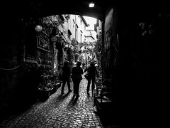 The shopping time (DanieleS.) Tags: street city light people urban bw white black monochrome wow walking photography lights mono photo spring amazing cool strada shot good great saturday bn di fotografia dannyboy bianco nero daniele orvieto 2016 salutari ilovedannyboy