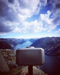 Wait for the storm (mastersawka) Tags: square stavanger squareformat hudson preikestolen rogaland brittania iphoneography instagramapp familyatsea aphotoepic thenorwayexperience