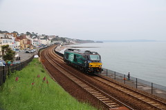 68017 | 'Hornet' | First 68 heading west. (Western Railway Photography) Tags: drs direct railway services 68017 hornet compass livery route learning devon cornwall class 68 warskip dawlish south sea wall