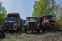 The car scrapyard (rondelezromario) Tags: urban cars abandoned boats army nikon decay trucks scrapyard urbex nikond7000