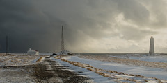 To The Lighthouse (Shepshed Camera Club) Tags: winter lighthouse snow weather clouds squall island iceland track 2ndprize londrangar february2015