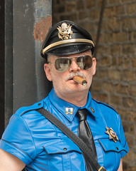 Smoking Officer (Photo by Orso) Tags: leather hair cigar cigars facial iml