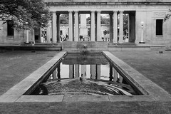 Let's Mess Up This Reflection (ClydeHouse) Tags: bw warmemorial southport byandrew