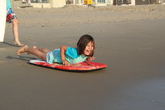 Jovie ready to catch a wave (Aggiewelshes) Tags: beach june waves sandiego olsen missionbeach boogieboard jovie 2016