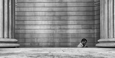 Sneaky Cig (Peter Murrell) Tags: street cigarette streetphotography smoking smoker pillars bankofengland londonstreetphotography