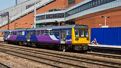 142016 (JOHN BRACE) Tags: bus station with northern 1985 seen derby bodies built pacer leyland unit doncaster livery brel 142016