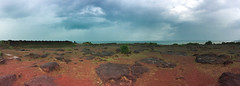 The Arabian Sea from Chapora Fort (siddharthx) Tags: 2016 secludedbeach bornfree evenings aguada northgoa goa june monsoons panorama forts view rococcoashwem ashwem arabiansea panoramic ocean chapora bestbeachesingoa ashwemgoa shotwithaniphone