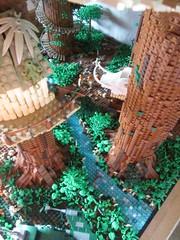 Ewokdorf - Blick nach unten 02 (KW_Vauban) Tags: starwars lego endor ewokvillage episodevi thereturnofthejedi