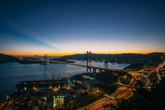 Sunset at Tsing Ma Bridge (AlberTsoi Photography) Tags: world life voyage city trip travel bridge sunset vacation sky sun holiday art home nature look night clouds fun hongkong amazing warm cityscape view place outdoor diary visualarts picture tourist follow adventure journey normal alive visiting backpacker humanbeing tramp wcw traveler humanities nowalls swagman tflers
