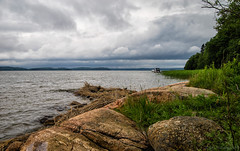 Shades of today (Joni Mansikka) Tags: trees sea summer green nature grass clouds suomi finland landscape grey boat rocks outdoor balticsea shore sauvo tamronspaf2875mmf28xrdildasphericalif