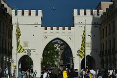 Munich - Karlstor (cnmark) Tags: architecture germany munich mnchen deutschland medieval historic stachus karlsplatz stadttor citygate mittelalterlich karlstor allrightsreserved