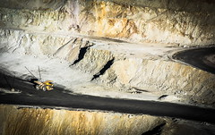 Mining (OneMarie!) Tags: yellow sonora truck mexico luces nikon mine mining mina copper ore sombras komatsu cobre camin nikond7100 mnera