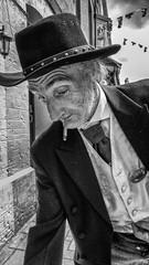 Sheriff (John Bastoen) Tags: street bw beard victorian streetphotography sheriff ilfracombe cigaret straatfotografie smartphoneshot