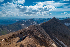 Be Free! (thecheetahexpress) Tags: blue summer sky cliff mountain mountains clouds evans colorado skies mt hiking trails rocky denver