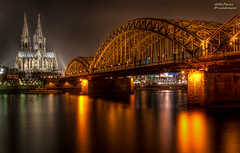 Cologne cathedral by night (mlphoto) Tags: bridge light reflection night river lights licht flickr ship cathedral pentax nacht dom cologne sigma kln brcke rhein spiegelung schiff hdr lichter reflektion nachtaufnahme nighshot klnerdom colognecathedral langzeitbelichtung longtimeexposure hohenzollern sigma3014 flus lr4 k20d pentaxk20d mlphoto mlphoto ligthroom4 markuslandsmannzenfoliocom