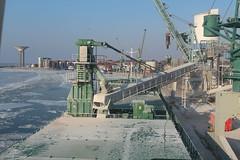 Kalkvik unloading in Landskrona