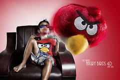 Angry Birds 4D (marcuzaureliuz) Tags: game birds composite kid angry 365 4d ih strobist