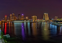 Tampa at Night (Photomatt28) Tags: reflection night tampa lights florida nik hdr topaz harbourisland tampaconventioncenter jacksonsbistro plattstreetbridge oloneo tampabaytimesforum
