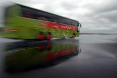Sicherheitstraining Bus Lausitzring - Bremsen auf nasser Fahrbahn II