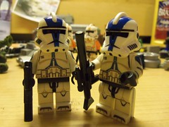 501st troopers (-[STORM]-) Tags: blue 2 3 trooper st star lego iii 501st wars custom clone update decals episode legion 501 battlefront coruscant appo